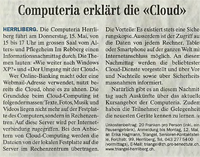 Computeria erklärt die «Cloud»