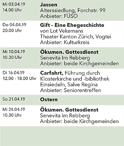 Seniorenkalender April 2019 links