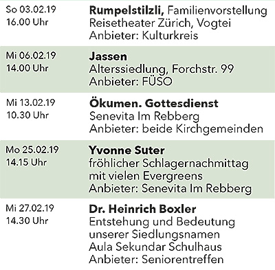 Seniorenkalender Februar 2019 links