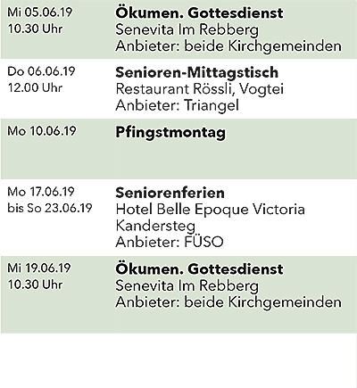 Seniorenkalender Juni 2019 links