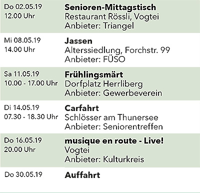 Seniorenkalender Mai 2019 links